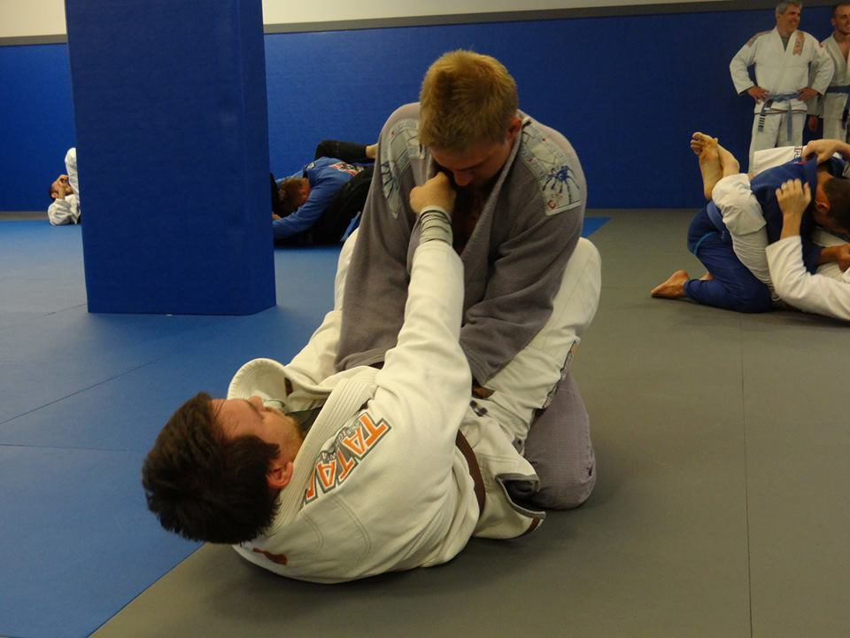 Katharo Training Center Students Training Jiu Jitsu Guard Passing